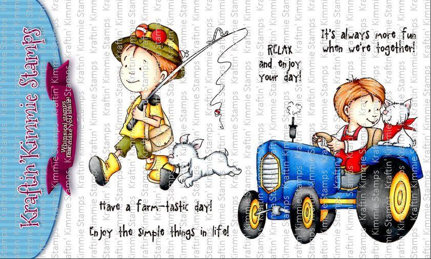 ***NEW*** Kraftin' Kimmie - Farm-tastic! clear stamp set