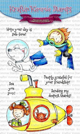 ***NEW*** Kraftin' Kimmie - Underwater Fun! clear stamp set