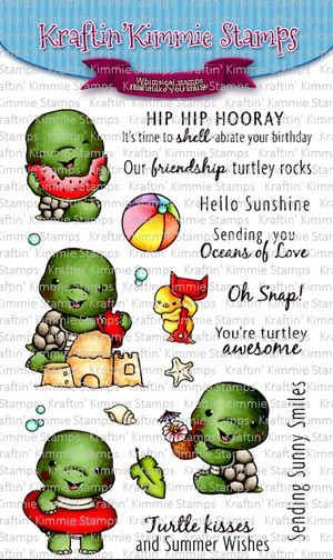 ***NEW*** Kraftin' Kimmie - Turtley Awesome! clear stamp set