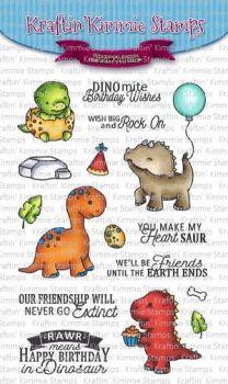 Kraftin' Kimmie - Dino-Mite Pals! clear stamp set
