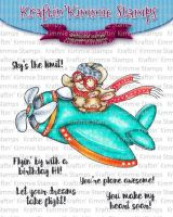 Kraftin' Kimmie - Sky's the Limit! Clear stamp set