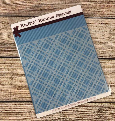 Perfect Plaid Stencil! - Kraftin' Kimmie