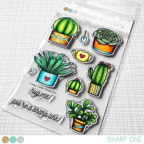 Create a smile - Sharp One clear stamp