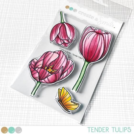 Create a smile - Tender Tulips clear stamp