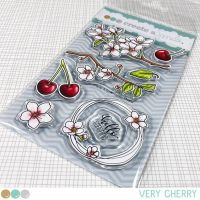 Create a smile - Very Cherry clear stamp