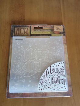 "Merry Christmas - 6"" x 6"" embossing folder"