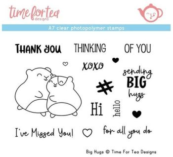 Time For Tea - Big Hugs A7 Clear Stamp Set