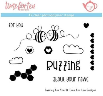 Time For Tea - Buzzing For You A7 Clear Stamp Set