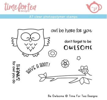 Time For Tea - Be Owlsome A7 Clear Stamp Set