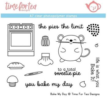 Time For Tea - Bake My Day A7 Clear Stamp Set