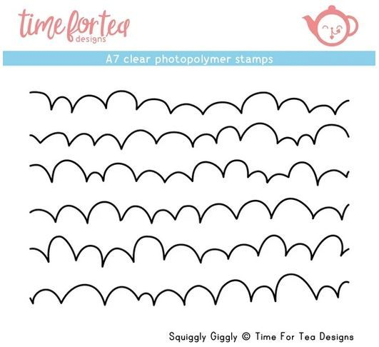 ***NEW*** Time For Tea - Squiggly Giggly A7 Clear Stamp Set