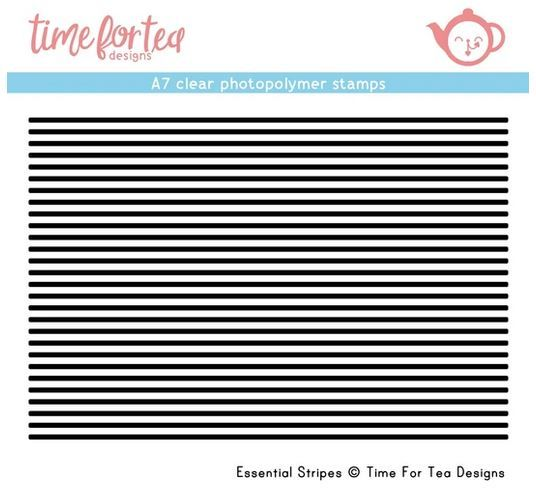 ***NEW*** Time For Tea - Essential Stripes A7 Clear Stamp Set