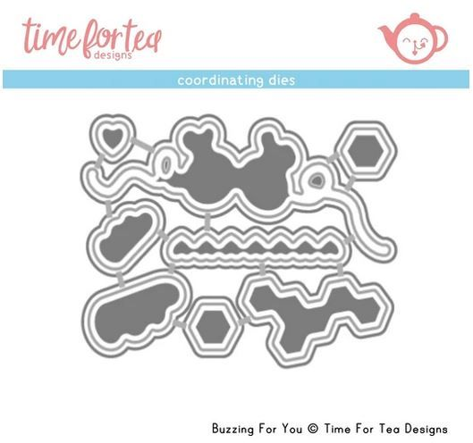 ***NEW*** Time For Tea - Buzzing For You Coordinating Die set