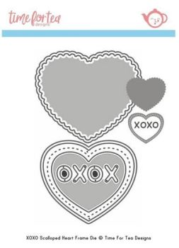 **NEW** Time For Tea - Small Heart XOXO Die set