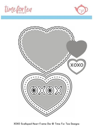 ***NEW*** Time For Tea - Small Heart XOXO Die set