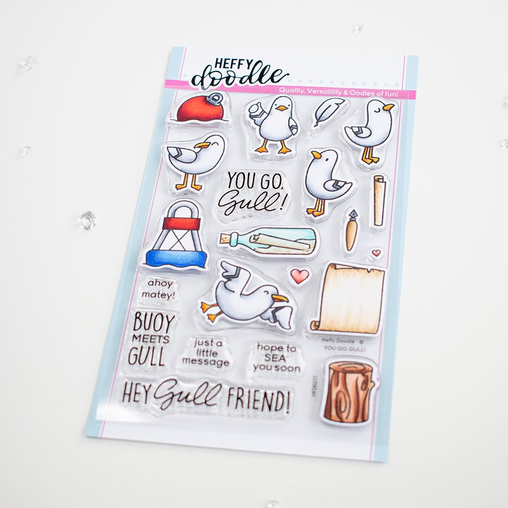 ***NEW***Heffy Doodle - You go, Gull clear stamps