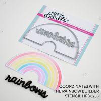 Heffy Doodle - Rainbow Builder Coordinating die set