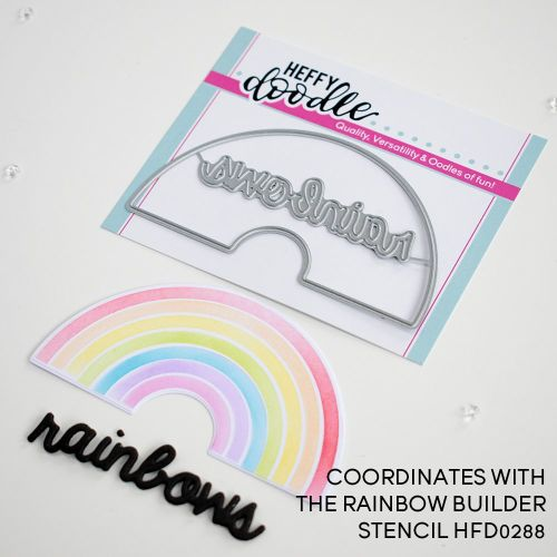 ***NEW***Heffy Doodle - Rainbow Builder Coordinating die set