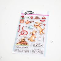 Heffy Doodle - Hot Diggity Dog clear stamps