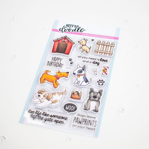***NEW***Heffy Doodle - Who Let The Dogs Out clear stamps