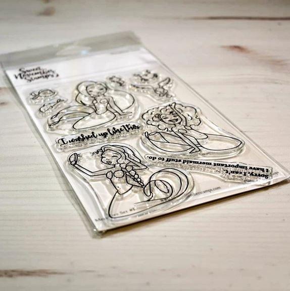 ****NEW****Sweet November - Mermee set #1 Clear stamp set