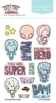 Little heroes clear stamp set - The Greeting Farm