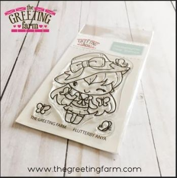 Flutterby Anya clear stamp set - The Greeting Farm