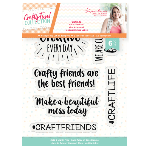 Crafty Fun -  Photopolymer A6 Stamp Set - Craft Life