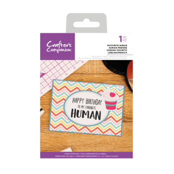 Crafter's Companion Clear Acrylic Stamp - Quirky Sentiment Stamps - Favourite Human