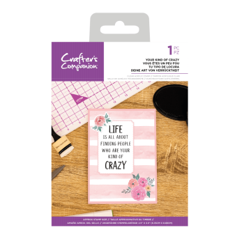 Crafter's Companion Clear Acrylic Stamp - Quirky Sentiment Stamps - Your Kind of Crazy