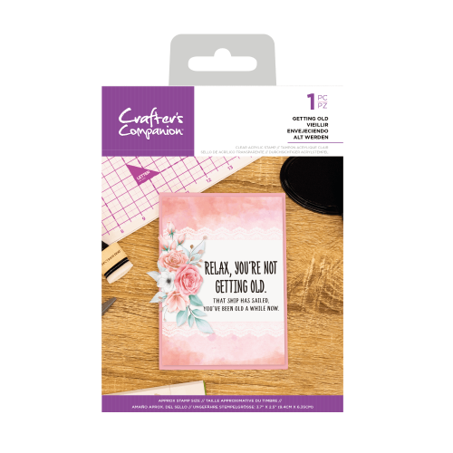 Crafter's Companion Clear Acrylic Stamp - Quirky Sentiment Stamps - Getting