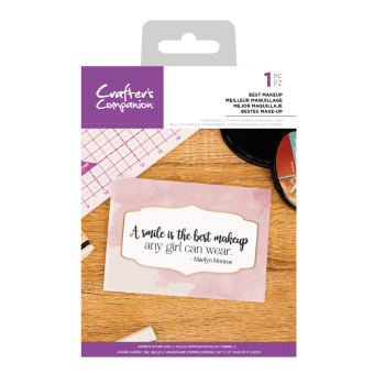 Crafter's Companion Clear Acrylic Stamp - Quirky Sentiment Stamps - Best Makeup