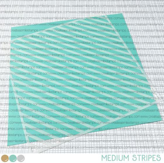 ***NEW***Create a smile - Medium Stripes stencil