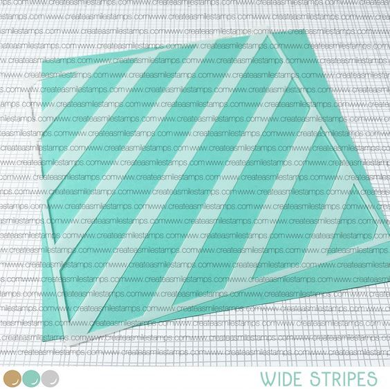 ***NEW***Create a smile - wide Stripes stencil