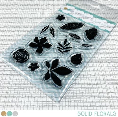 ***NEW*** Create a smile - Solid Florals clear stamp