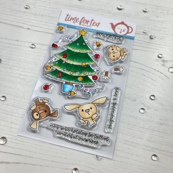 Time For Tea - Christmas Surprise clear stamp set