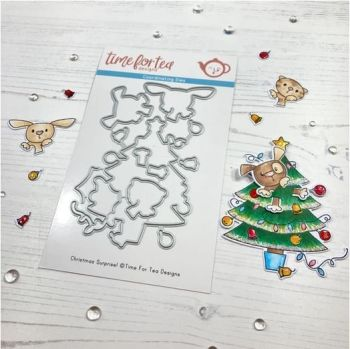 ***NEW*** Time For Tea - Christmas Surprise clear die set