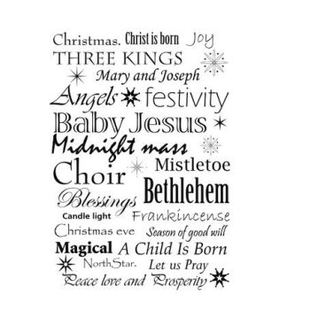 Lavinia Stamps - Christmas words