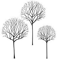 Lavinia stamps - Skeleton Tree Scene