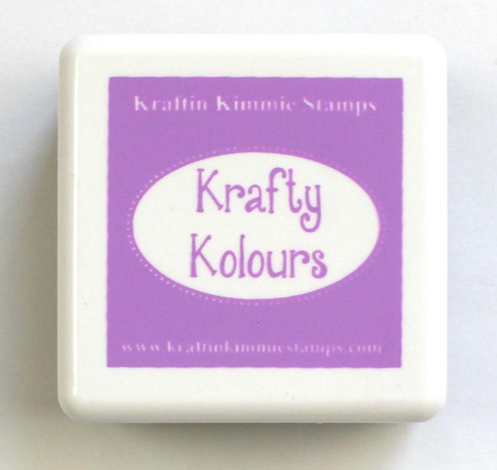 Purple Pansy Mini Ink Cube! - Kraftin' Kimmie
