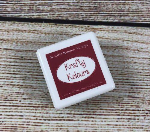 Crisp Crimson Mini Ink Cube! - Kraftin' Kimmie