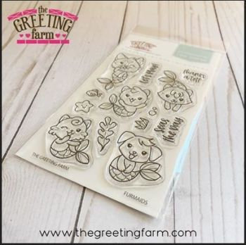 Furmaids stamp set  - The Greeting Farm