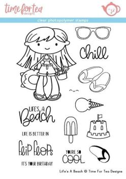 Time For Tea - Life's a beach Clear stamp set