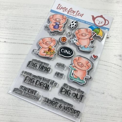 ***NEW*** Time For Tea - Hogs & kisses clear stamp set