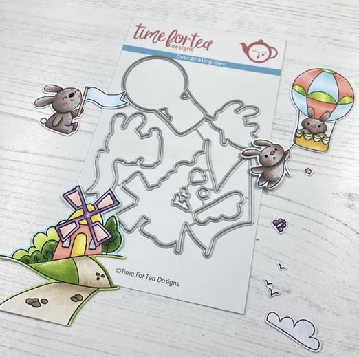 ***NEW*** Time For Tea - Up, up and away die set