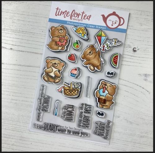 ***NEW*** Time For Tea - Bears Picnic clear stamp set