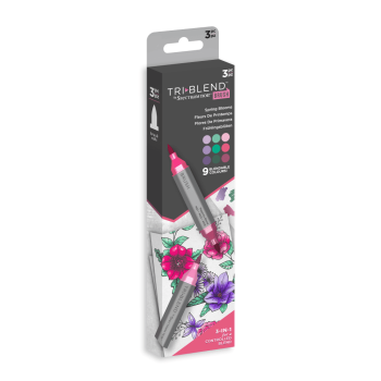 ***NEW*** Spectrum Noir TriBlend Brush - Spring Blooms 3pc