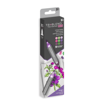 ***NEW*** Spectrum Noir TriBlend Brush - Cottage Garden 3pc