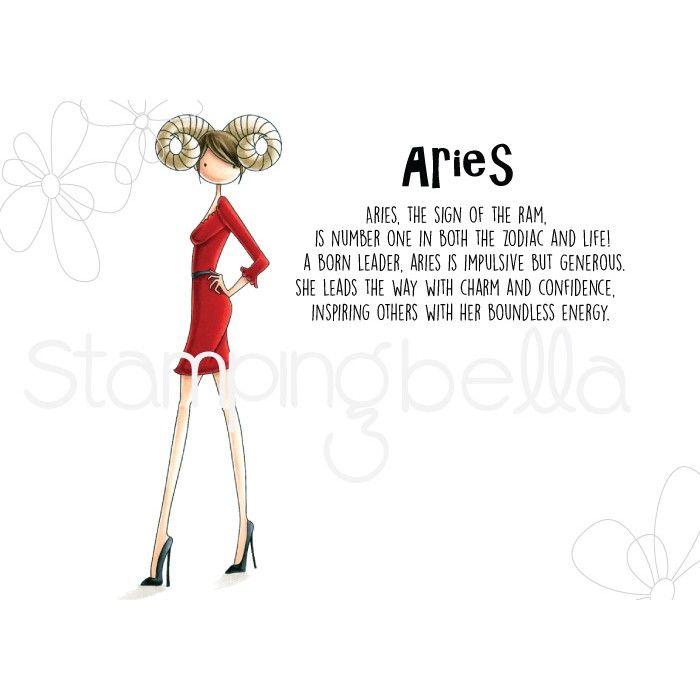 Stamping Bella - UPTOWN zodiac girl Aries