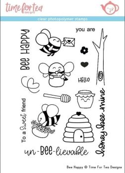 Time For Tea - Bee happy Clear Stamp Set